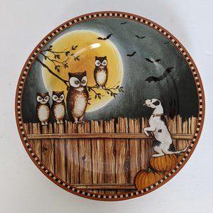 Halloween Pumpkin Hollow David Carter Brown Plate